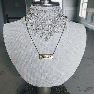 Rebecca Minkoff Aquarius gold plated necklace
